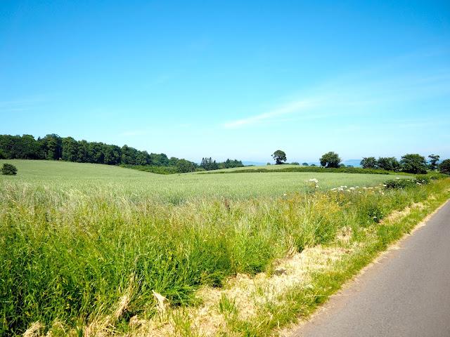Country walking path in Dalmeny Estate Shore Walk in north Edinburgh