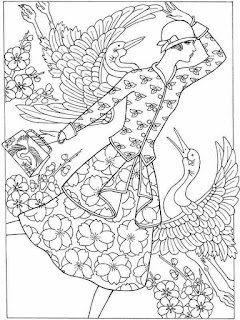 florist fashion show printable coloring pages for adult