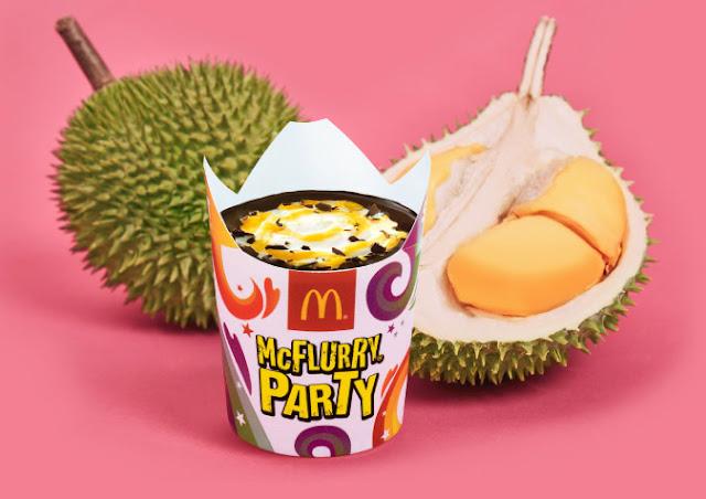 Harga D24 Durian McFlurry Party McDonald's