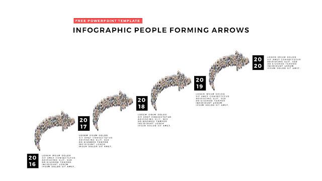 Free PowerPoint Template with Infographic People Forming Arrows Slide 4