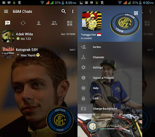 BBM Change Background with Inter Milan