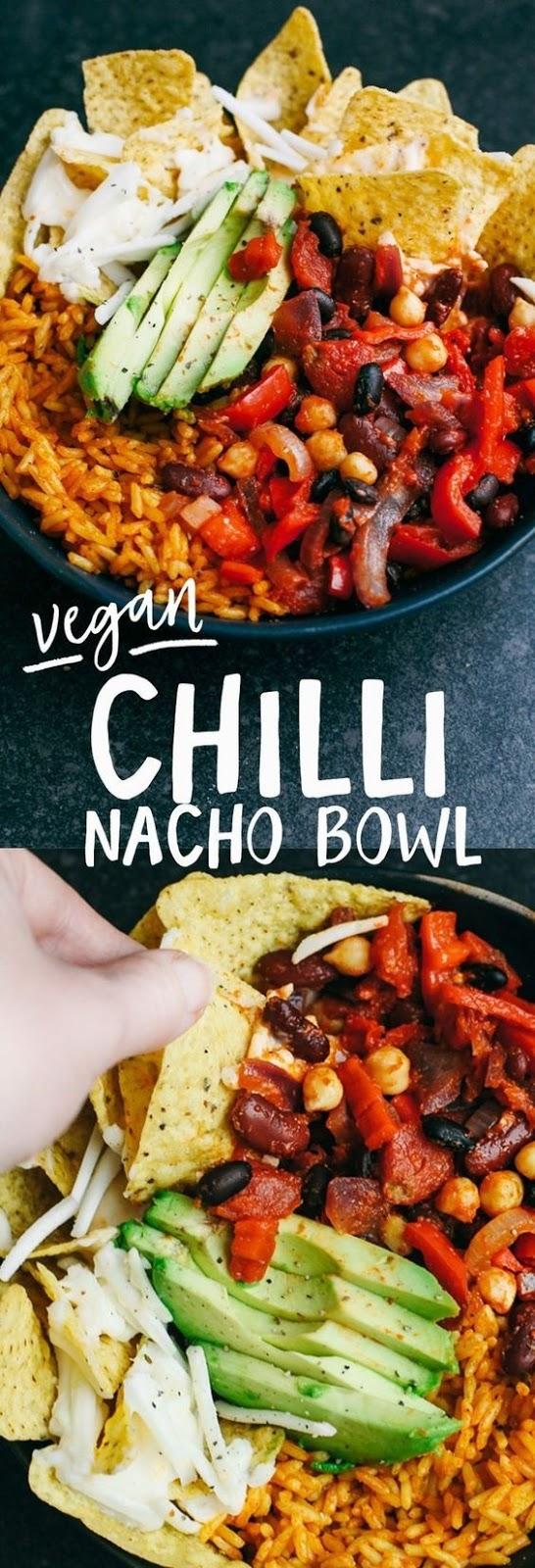Vegan Chilli Cheese Nachos