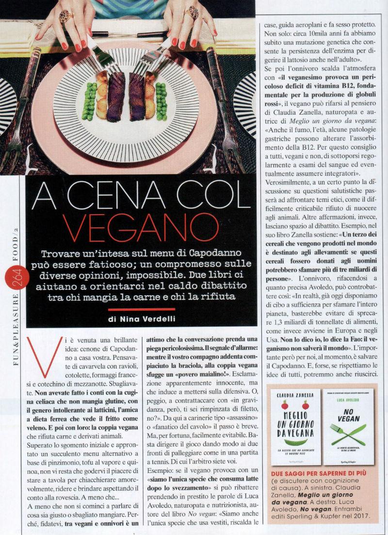 Intervista a Luca Avoledo sulla dieta vegana e sul libro No Vegan su Glamour