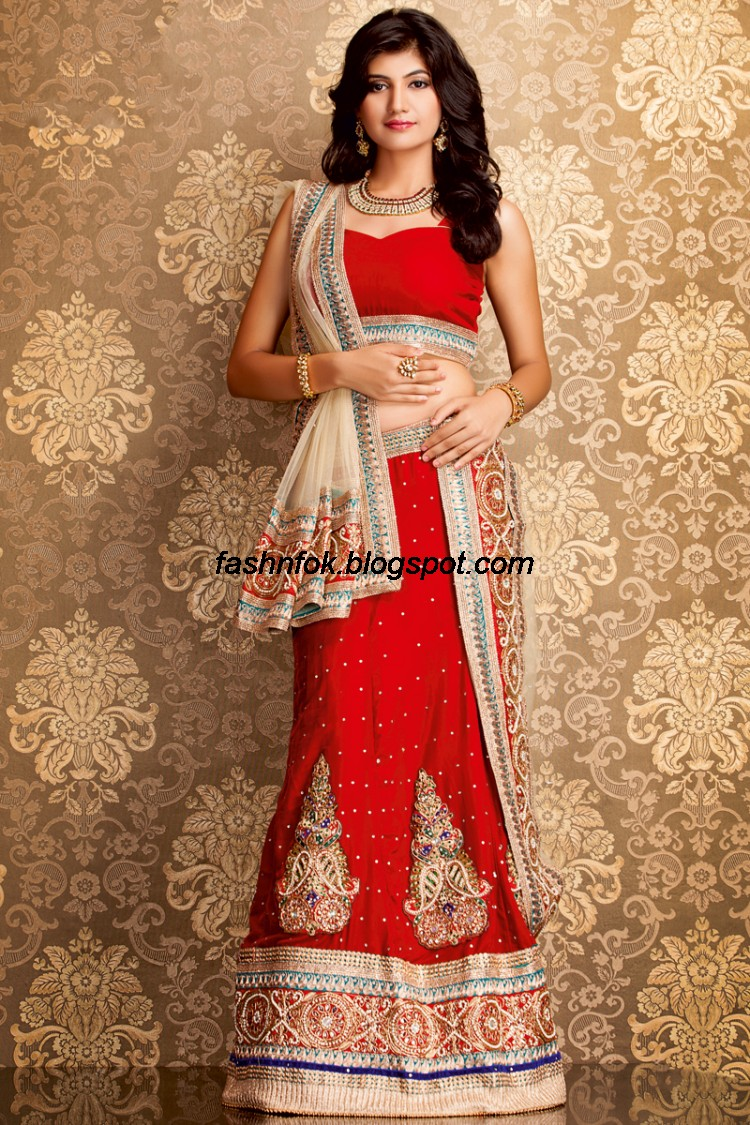 Fashion fok indian beautiful wedding bridal wear new for Indian women wedding dress