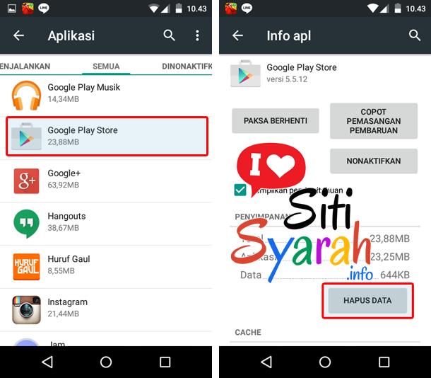 android tidak bisa update aplikasi