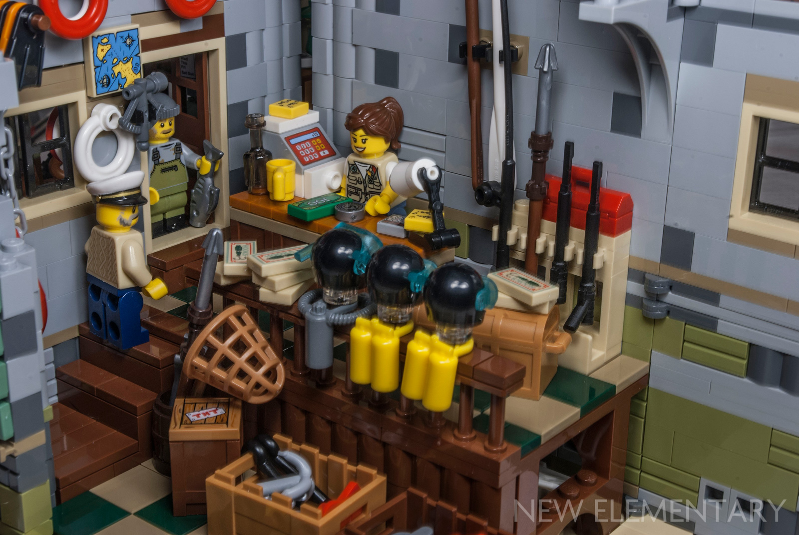 Gone fishin 39 new elementary a lego blog of parts for Lego old fishing store