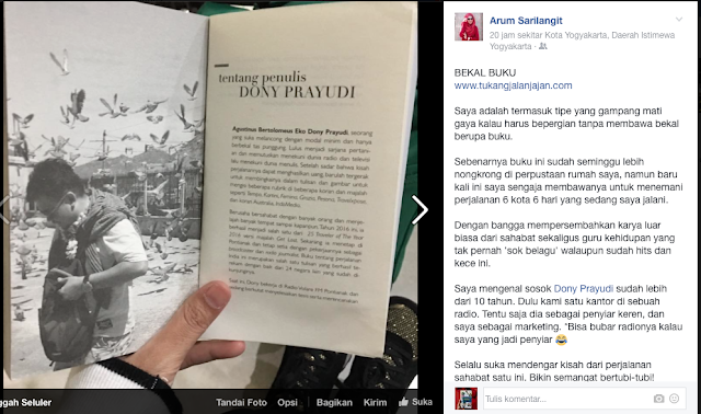 "facebook Arum Sarilangit tentang ""The Best Of India"""