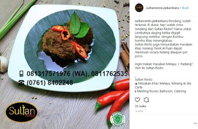 Makanan Melayu Pekanbaru Riau Rendang Daging Sultan Resto