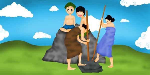batu golog dari desa padamara, lombok timur, NTB