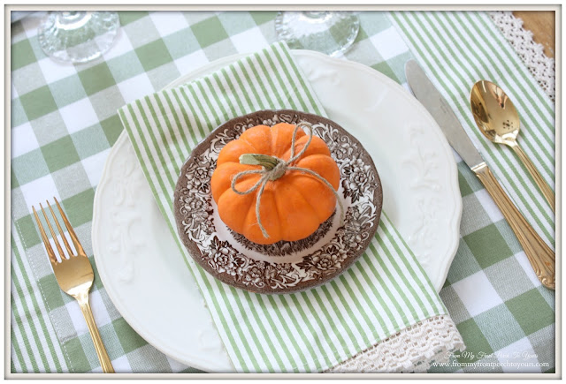 Brown- Transferware-Farmhouse Style- Fall Kitchen--From My Front Porch To Yours