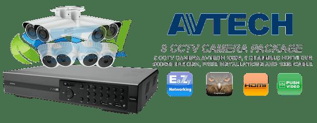 Paket Pasang 8 CCTV AVTECH