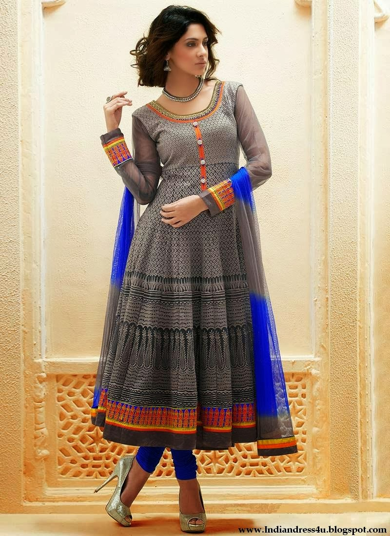 Latest Design Of Assam Type House: Latest Anarkali Frock Suits Designs 2014