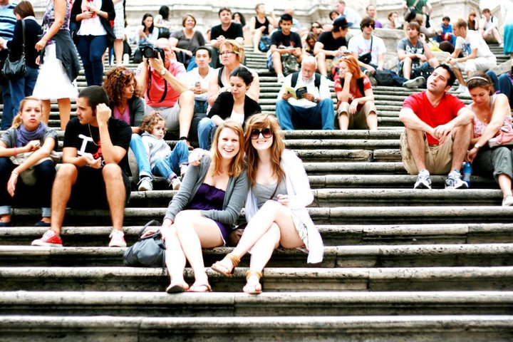 Photograph on the spanish steps