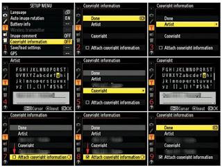 Cara Menempelkan Info Hak Cipta Di Exif Foto Secara Langsung Melalui Kamera
