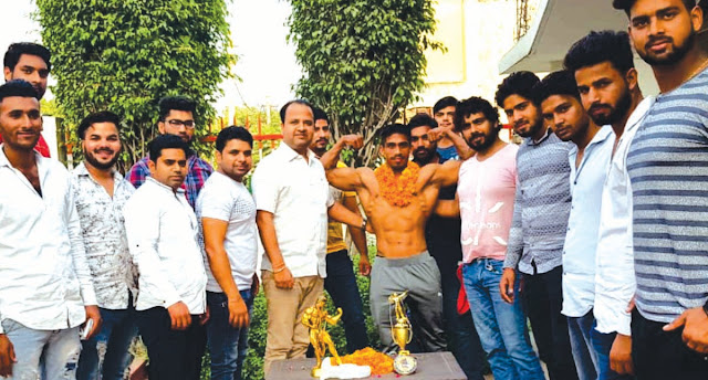 Prashant Sharma won gold medal in body building championship in Delhi