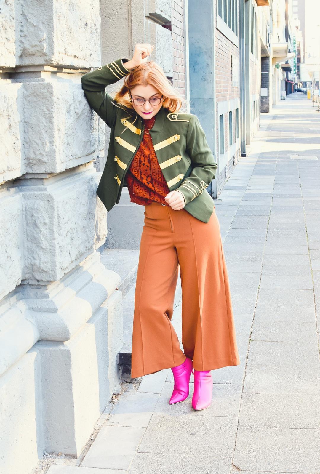 Olivgrüne Jacke, Streetstyle mit Oliv Grün