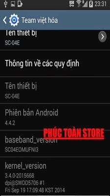 Tiếng Việt Samsung S4 SC -04E alt