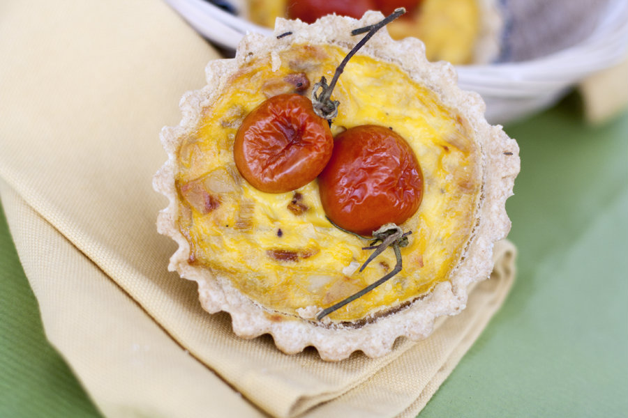 [I love food] Mini Quiche al timo con patate, porri e pancetta