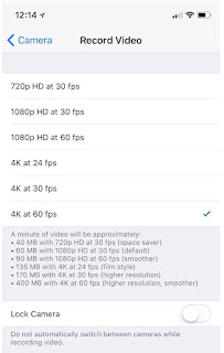 How to shoot 4K video at 60 FPS on iPhone
