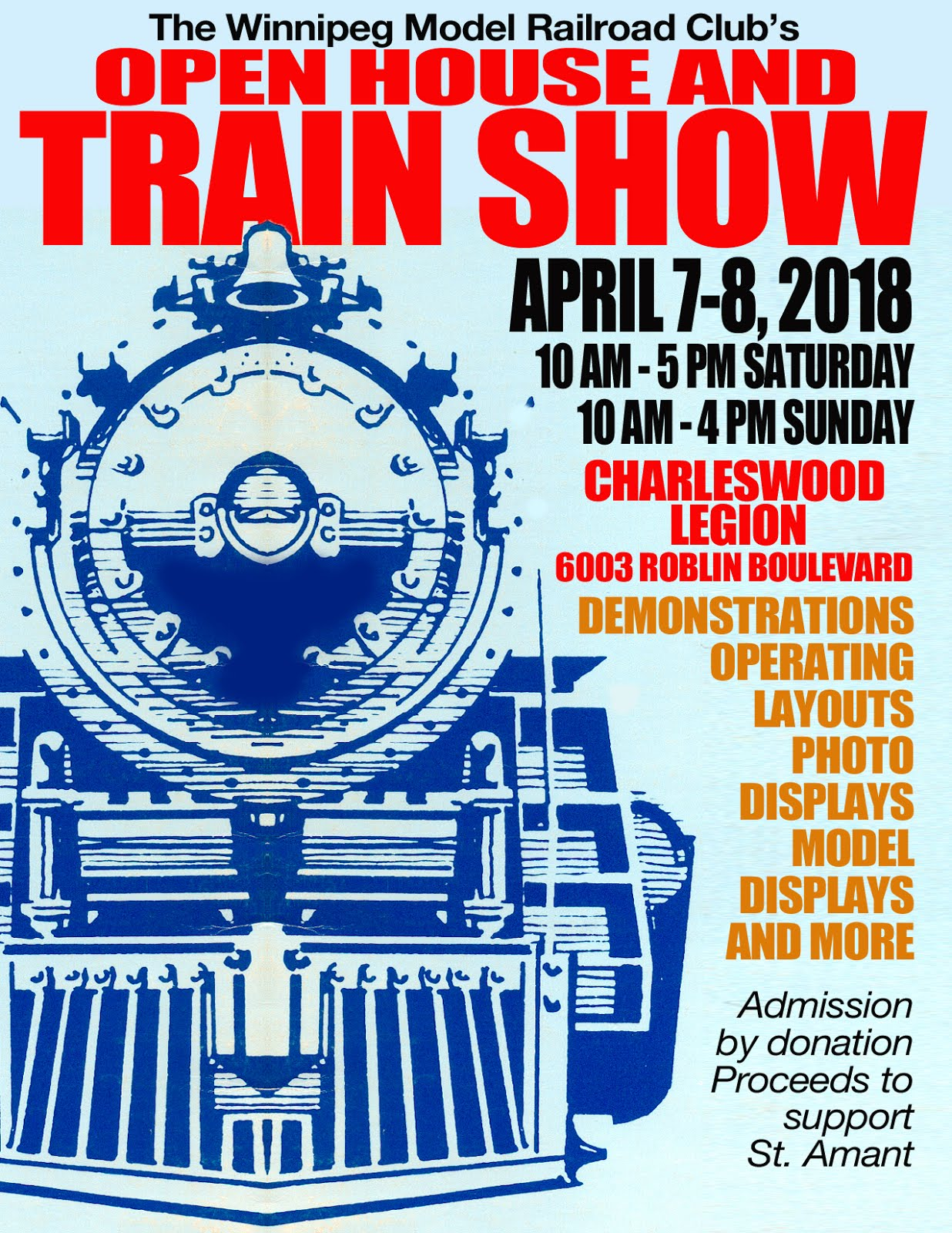 WINNIPEG MODEL RAILROAD CLUB'S ANNUAL OPEN HOUSE AND TRAIN SHOW