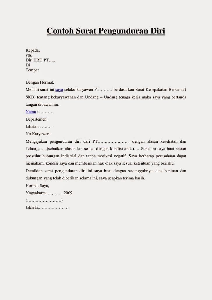 Format Surat Resign