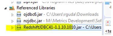 Oracle By Mahendra: Redshift JDBC Program
