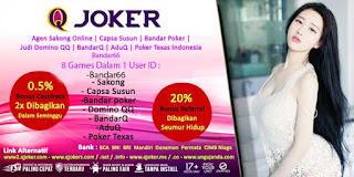 QJoker Agen Judi Domino Online Terpercaya - www.Sakong2018.com