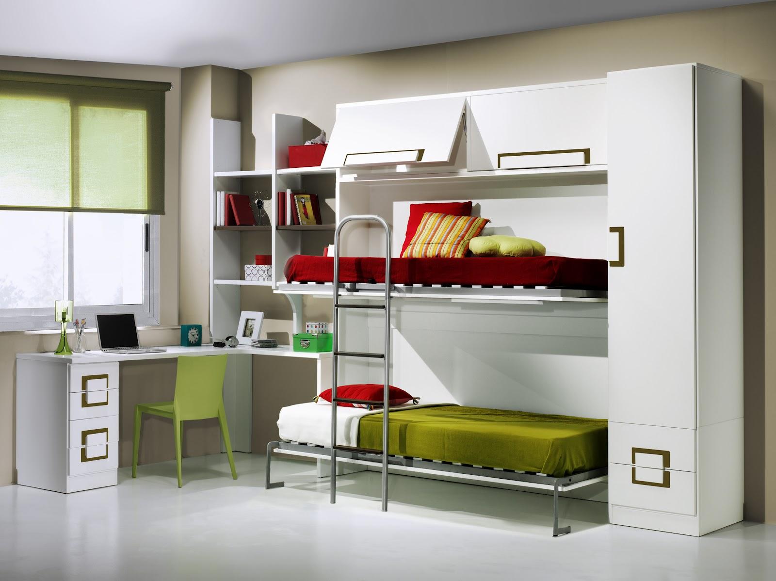 Decoracion dormitorios juveniles peque os habitaciones - Decoracion dormitorios pequenos ...