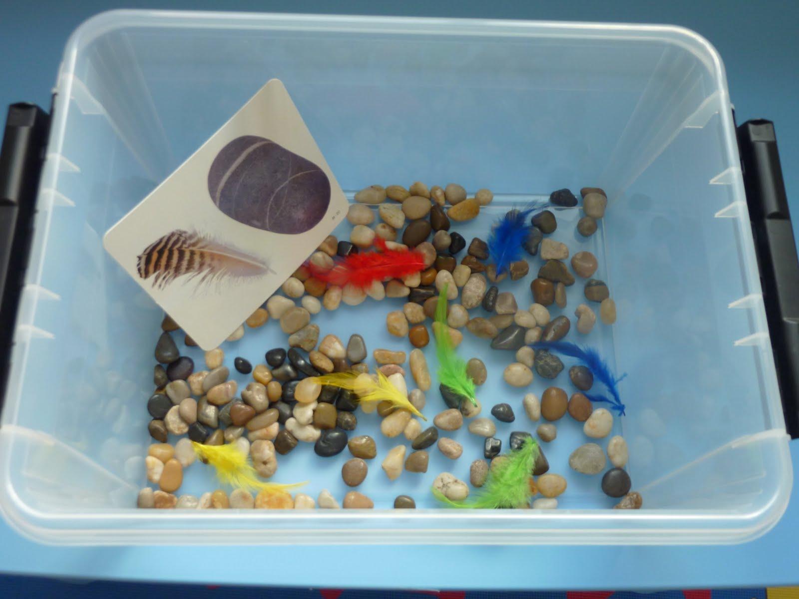 Family Fecs Montessori Activity Heavy Amp Light Sensory Box