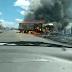 Grave acidente envolvendo dois veículos na BA-130, entre Macajuba a Baixa Grande, deixa uma pessoa carbonizada