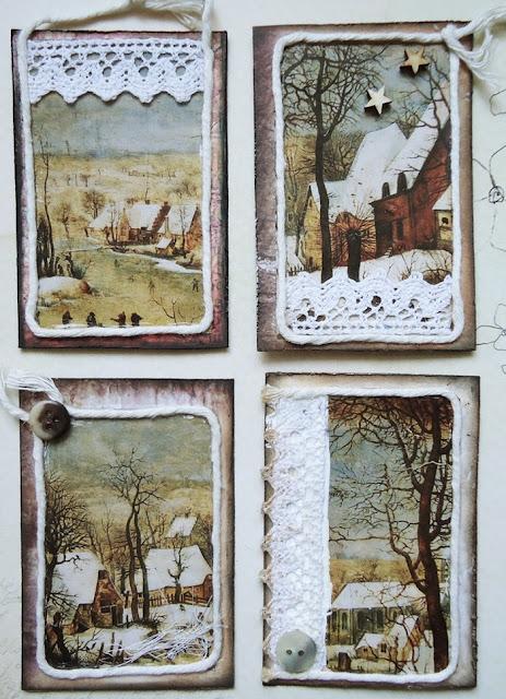 seria zimowa, art-journal, kolaż
