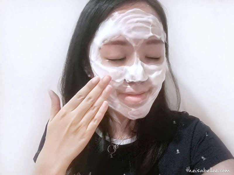 Using Innisfree Green Tea Foam Cleanser