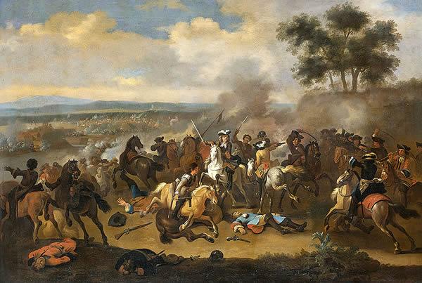 Battle of the Boyne between James II and William III, 11 June 1690