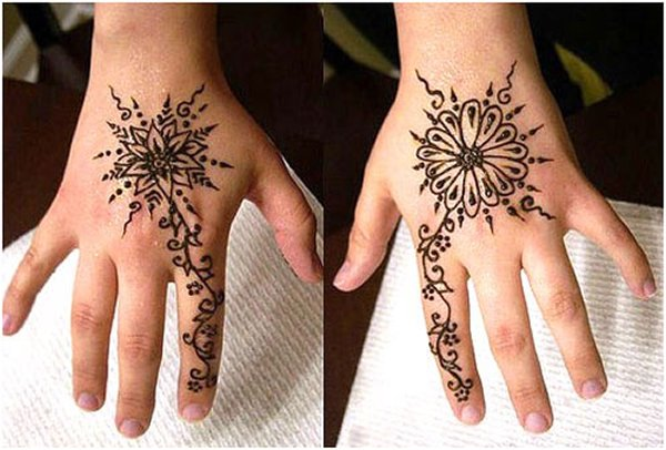 Mehndi Designs Simple And Easy Step By Step : Easy and simple mehndi designs for kids hands 2017 collection