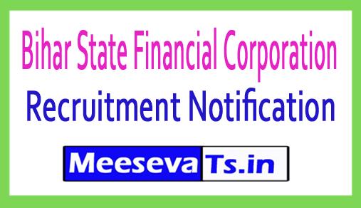 Bihar State Financial Corporation BSFC Recruitment