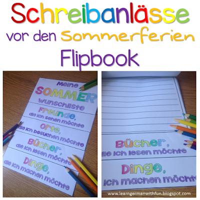 Dieses Flipbook ist eine tolle Aktion vor den Sommerferien. Die Kinder schreiben ihre Wünsche für die Sommerferien hinein. Das kann in Stichpunkten oder in kleinen Textn erfolgen. Auf jeden Fall macht es Spaß!