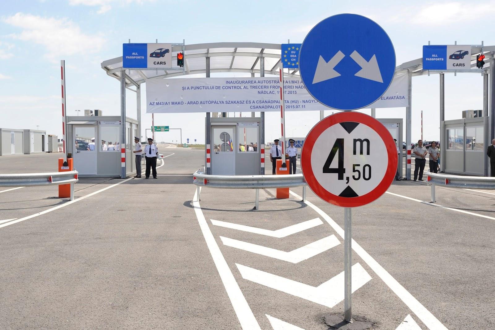 Csanádpalota-Nagylak határátkelőhely, határrendészet, közlekedés, magyar-román határ, Magyarország, Románia