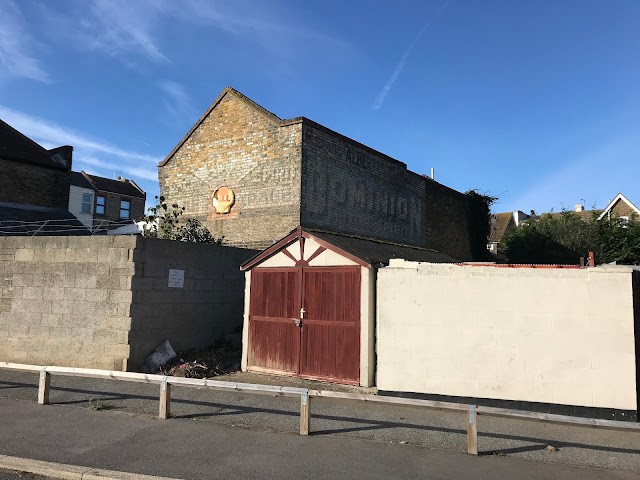 Albert Garage, Dominion Motor Spirits, Ghost sign, Margate, Kent