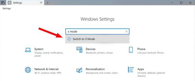 Switch To S Mode On Windows 10