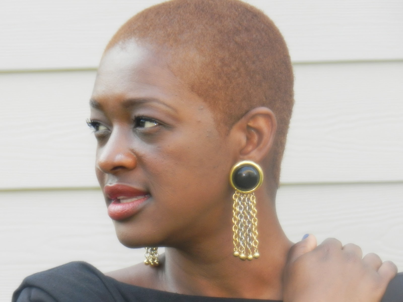 Two Stylish Kays: Bald Bold Natural Hair Style