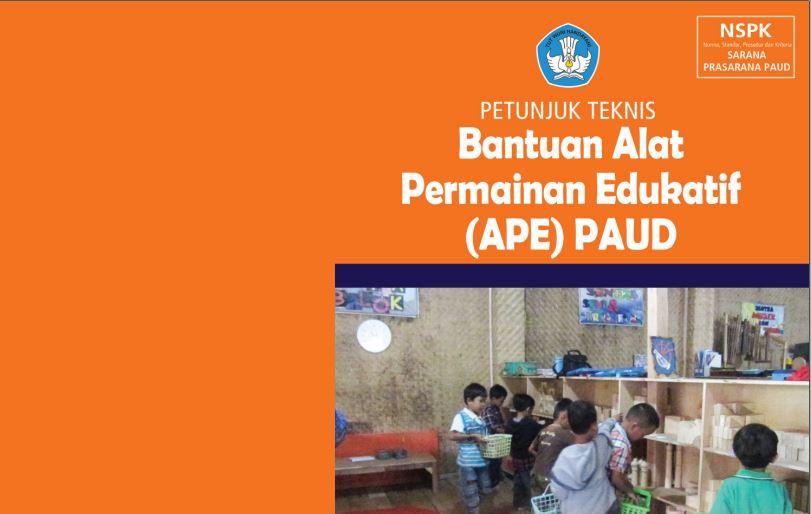 Download Juknis Bantuan Alat Permainan Edukatif (APE) PAUD Tahun 2016 Format PDF