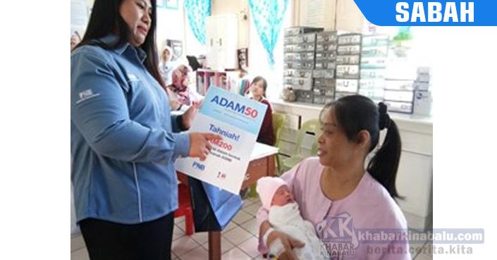 Tawau : Tiga Bayi Tahun Baru Terima Adam50