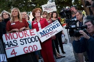 Allegations against Roy Moore create awkward choice for suburban women in Alabama