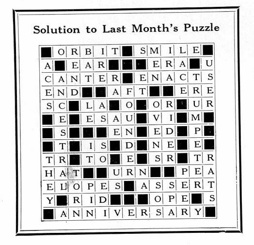 Ballyhoo Vintage News: Stetson 60th Anniversary Crossword