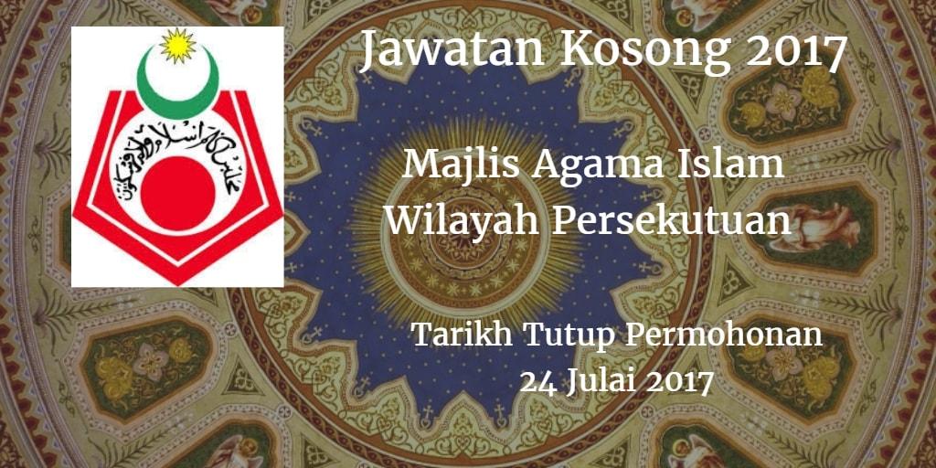Jawatan Kosong MAIWP 24 Julai 2017