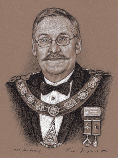 M.W. Stanley Barclay. Past Grand Master. Grand Lodge of Manitoba. Canada. by Travis Simpkins