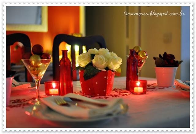 decoração simples mesa natal