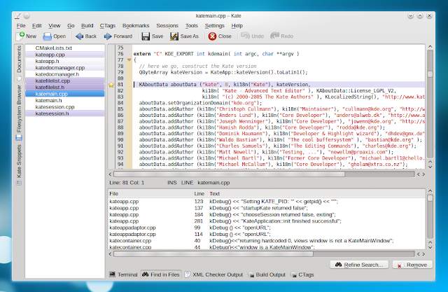 Como Melhorar a configuração do Kate para Desenvolver Shellscript, Bigbashview, Bigcontrolcenter e Kdialog.