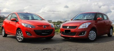 Suzuki Swift vs. Mazda2 Indonesia