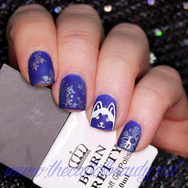 Holo Snowflakes and a Husky